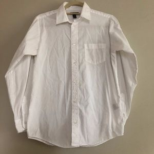 Boy's 2XL (18) White Collared Button Down Shirt